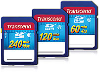 Transcend SDHC HD video cards