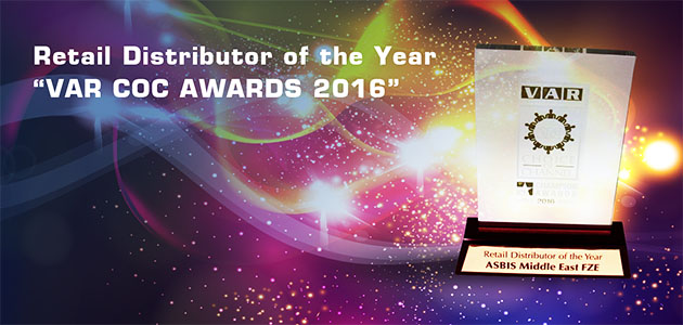 "ASBIS Middle East collects ""Retail Distributor of the Year"" at the ""VAR COC Awards 2016"""