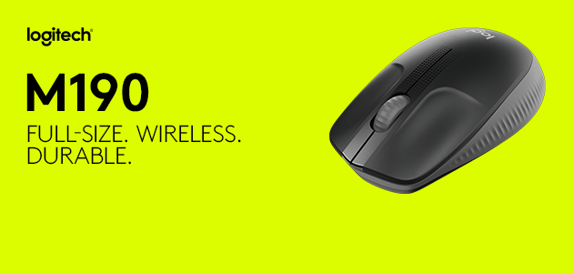 New Logitech M190 Wireless Mouse Brings Full-Size and Long-Lasting Comfort from The World Leader in Mice and Keyboards at an Affordable Price