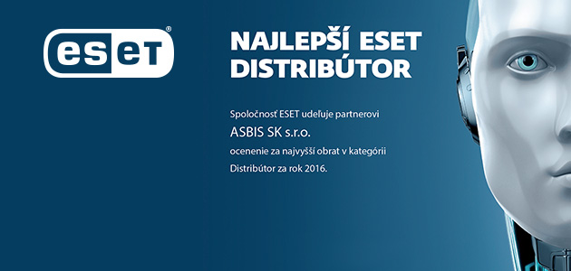 ESET recognizes ASBIS Slovakia the best distributor of 2016